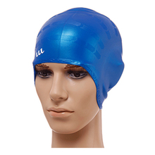 h642 Free shipping Selling 2016 new earmuffs waterproof silicone swimming cap Multicolor optional Male/female(China)