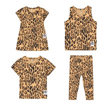 Bobozone Basic Leopard Tee Tank Dress pants Beige for boys girls kids clothing tees tops