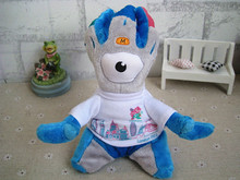 2012 London Olympic Game Mascot Blue Wenlock Cute Stuffed Plush Toy Doll Gift for Boy Girl Birthday Gift Figure Doll Collection(China)