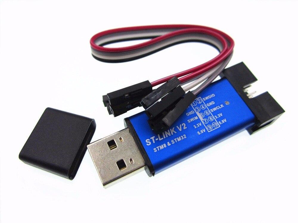 A 2pcs ST-Link V2 STLINK Mini STM8 STM32 STLINK Simulator Download Programming