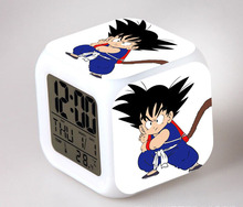 Dragon Ball Clock Dragonball z Action Toys Figures Son Goku Super Saiyan Anime Cartoon (7 Color changing ) Alarm Clocks Kids Toy