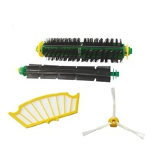 High Quality Side Brush Filter Mini Kit 3 Armed for iRobot Roomba 500 Series 520 530 540 550 560Free Shipping(China)