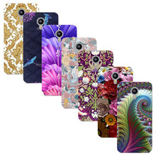 "For Meizu M2 Note 5.5"" Blue Charm Note 2 Printed Case Luxury Hard Plastic Drawing Phone Shell For Meizu Note2 Flower Back Cover"