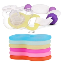 (OOTDTY) 1PC Multi Colors Silicone Baby Dummy Pacifier Holder Clip Adapter for MAM Rings APR12_30