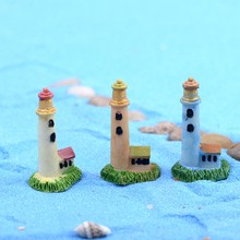 Zakka Artificial Mini Lighthouse Beacon Micro Landscaping Decoration Small World Plastic Craft DIY Accessories