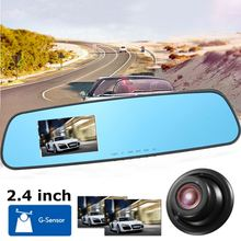 Best Price HD 720P 1280 x 720 2.4 Inch Car DVR Mirror Monitor Recorder Camera Video Dash Cam Rear View