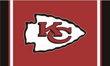 Kansas City Cheifs flag 3ftx5ft Banner 100D Polyester Flag metal Grommets 13016(China)