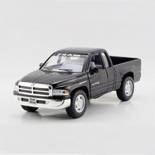 Pull back car Ram Pickup truck Black 1/44 alloy models model car Pickup Diecast Metal Pull Back Car Toy For Gift Collection(China)