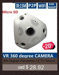 2MP HD 1080P PTZ Wifi IP Camera 360 Degree Fisheye IR-Cut Night Vision Two Way Audio CCTV Security Camera SD Card