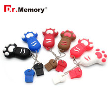 Dr.Memory USB 2.0 Flash Drive Cartoon Cat Paw Pen Drive High Speed Real Capacity 32/16/8 GB Download Storage USB Stick Pendrive(China)