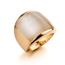 New Vintage Jade Ring Champagne Gold Women Party Ring For Gift
