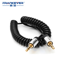 High Sound Quality 3.5MM Spring Audio Cable Male to Male Retractable Line for Phone/Computer/MP3/Amplifier/Speakers
