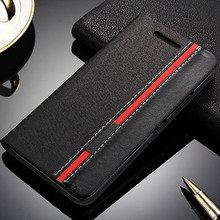 For Lenovo S60 S60-A Case Fashion Black Red Leather Book Flip Cover Wallet Phone Case For Lenovo S60 S60T S60W Card Slot Hard PC