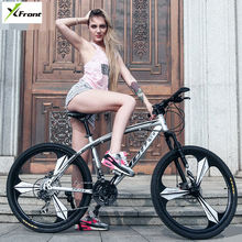 New brand carbon steel 26 inch wheel 21/24/27 speed disc brake mountain bike outdoor sport bicicleta damping bicycle