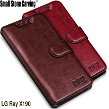For LG Ray Case Luxury PU Leather Case Cover For LG Ray X190 Case Flip Cell Phone Shell Back Cover With Card Holder & stander(China)