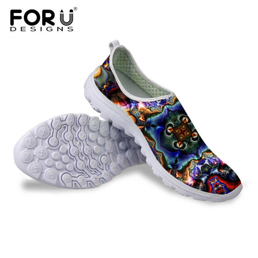 FORUDESIGNS Fashion Women Breathable Mesh Water Shoes Casual Slip-on Beach Shoes For Unisex Summer Flat Shoes Zapatos Mujer <br><br>Aliexpress