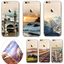 6/6S Soft TPU Cover For Apple iPhone 6 6S Cases Phone Shell Top Popular Venice Water City Beautiful Bridge Water Scenery