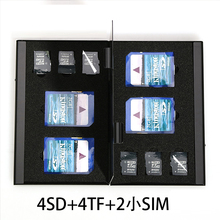10 in 1 Aluminum Storage Box Bag Memory Card Case Holder Wallet Large Capacity For 4* SD Card 4*Mirco SD 2*SIM Card