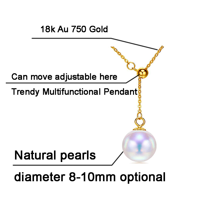 SINYA Trendy Multifunctional Pendant 8-8.5mm Pearl Pendant 18k Yellow Gold Chain& Akoya Pearl Pendant Necklace For Women Gift (14)