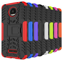 Silicon Rubber Phone Case for Moto Z2 Play/Moto Z droid/Force Protective Shockproof Hybrid Armor Cover Back Shell with Kickstand