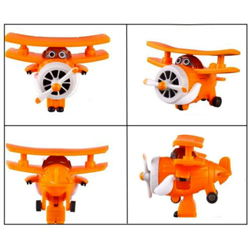 8pcs/set MINI Airplane Anime Super Wings Model toy Transformation Robot Action Figures superwings toys for Children Kids 11