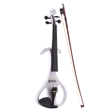 ammoon Professional VE-209 4/4 Solid Wood Silent Electric Violin Fiddle Maple Body Ebony Fingerboard Pegs Chin Rest Tailpiece(China)