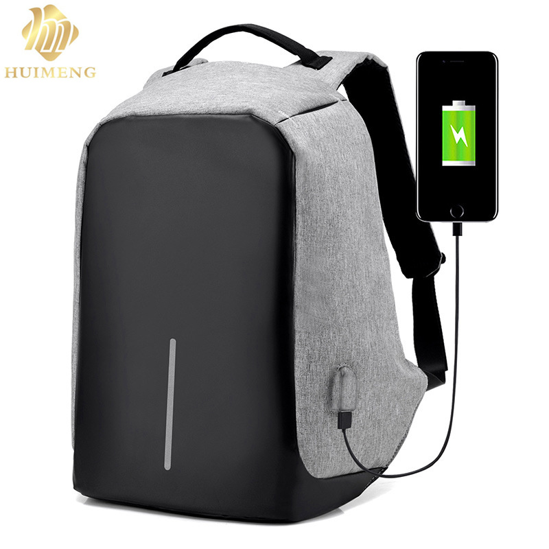 HUIMENG Brand 15.6 Men Laptop Backpack External USB Charge Antitheft Computer Backpacks Male Waterproof Bags Tigernu Anti-theft<br>