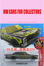 New Hot 1:64 Cars wheels Custom Green 65th Pontiac GTO Models Metal Diecast Car Collection Kids Toys Vehicle Juguetes