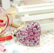 real capacity Diamond crystal heart USB Flash Memory Pen Drive Stick 2GB 4GB 8GB 16GB 32GB USB Flash Drive S48 DD(China)