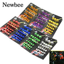 Newbee Motorcycle Screw Nut Bolt Cap Cover Decoration Centro Motorbike Ornamental Mouldings For Yamaha Kawasaki Honda Harley BMW