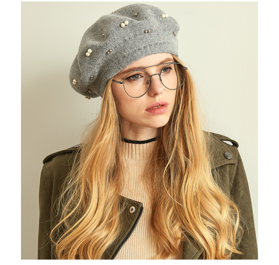 قبعة صوف محبوكة 6
