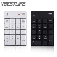 VBESTLIFE 2.4GHz Wireless Keyboard USB Numeric Keypad Numpad Number 18 keys Pad For Laptop PC Black White New Free Shipping(China)