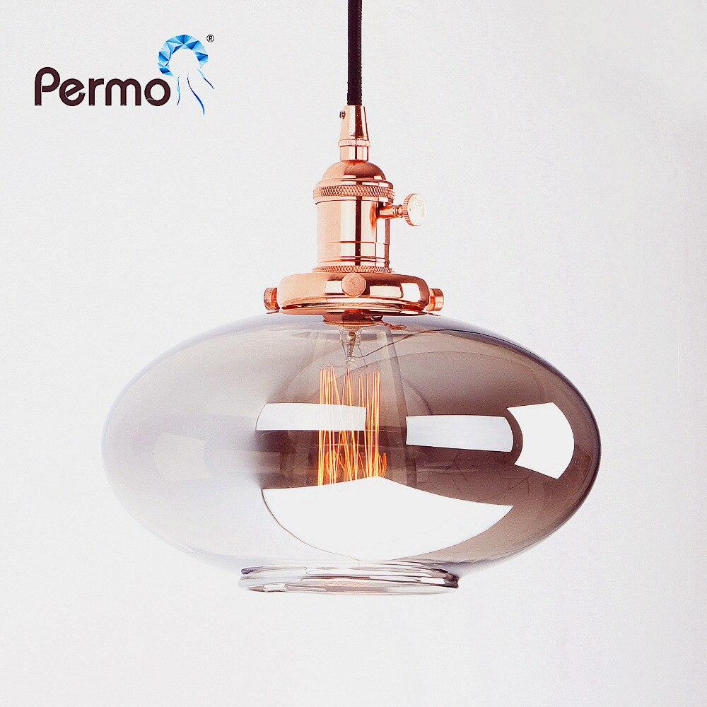 PERMO Vintage Pendant Lights Reflective Glass Retro Luminaire Loft Pendant Ceiling Lamp Modern Hanglamp Lights Fixture<br>