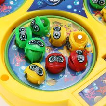 1 PC New Fashion Kids Electronic Magnetic Bait Fishing Toy Magnet With Music Fishing Game Electric Plastic Fish Toys