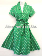 free shipping New Retro Vtg 1950's Black Floral Summer Swing Tea Dress UK 10 sexyv-neck party dresses(China)