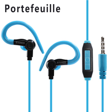 Portefeuille Earhook Wired Stereo Headphones Earbuds Earphones for iPhone iPod Samsung Xiaomi redmi note 3 pro mi fone de ouvido(China)