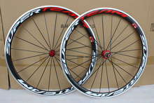 700c 38mm Carbon Wheelset Coppocalo E53 carbon alloy wheels 23mm width road bicyle wheels with Aluminum brake surface