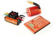 Skyrc Leopard 3300KV/12T/2P Brushless Motor + Leopard 60A ESC + Program Card Combo Set For 1/10 Car