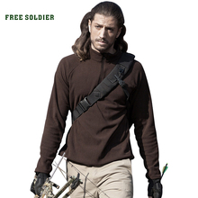 FREE SOLDIER Outdoor sports hiking camping disciplinarian thin pullover basic fleece clothing tactical thermal jacket(China)