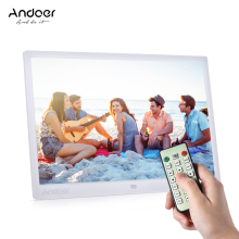 "Andoer 15"" TFT LED Digital Photo Frame Support 1080P MP4 Video MP3 Audio TXT eBook Clock Calendar 1280 * 800 HD w/Remote Control"