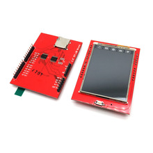 1pcs LCD Module TFT 2.4 inch TFT LCD Screen for Arduino UNO R3 Board Color LCD Shield Socket Touch Panel Module(China)