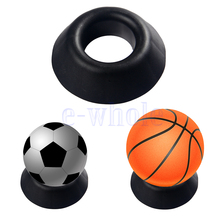 Ball Stand Basketball Football Soccer Rugby Plastic Display Holder Ball Seat  SP0487