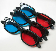 Wholesale Cheap Price Blue And Red 3D Glasses Good Quality For LCD LED Video Beamer Projector Eyeglasses 4 Unit/Lot