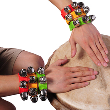 2Pcs Nylon Rhythm Band Wrist Bells Baby Kids Musical Instrument Toy - Random Color