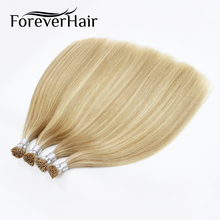 "FOREVER HAIR 0.8g/s 16"" 18"" 22"" Remy Double Drawn I Tip Human Hair Extension #P18/22 Keratin Bond Stick Tip Hair Extension 80g(China)"