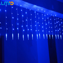 Holiday Lighting 2M*0.6M 60LEDs Waterproof String Light Fairy Icicle LED Curtain Light For Festival Christmas Garland Decoration