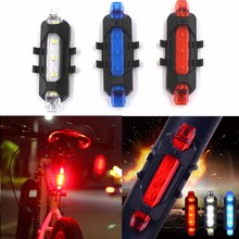 USB Charge Bicycle Lights Bike Rear LED Light Rechargeable Bike Lamp Red Warning Light USB Charge Bicycle tail light(China)