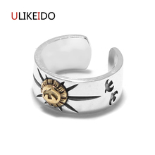100% Pure 925 Sterling Silver Jewelry Takahashi Goros Eagle Feathers Jewelry Opening Ring For Women Mens Signet Rings 152