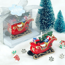 Christmas Santa sled smookless candle baby shower baptism birthday party favor children gift present baby boy girl christmas(China)