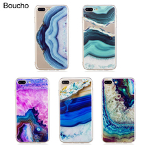 Buy Soft TPU Case iphone 5 5S SE 6 6s 7 8 plus Back Cover New Watercolor Stone Agate Pattern Silicone Phone Cases iphone X 8 for $2.59 in AliExpress store